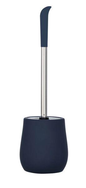 SYDNEY blau matt WC-Bürste, Silikon-Bürstenkopf