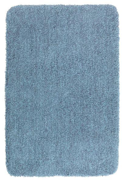 MELANGE Marine Blue Badteppich, 60x90 cm, fusselfrei