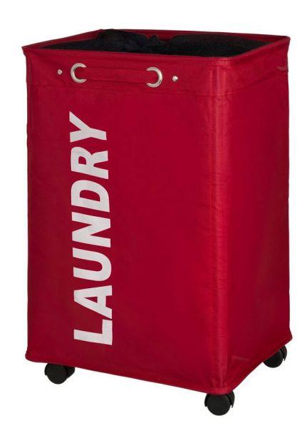 QUADRO rot Wäschesammler mit Rollen