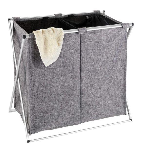 DUO grau meliert Wäschesammler, faltbar