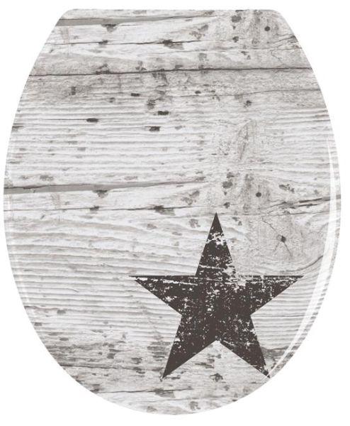 WC-Sitz Star von Wenko mit Edelstahlscharnieren