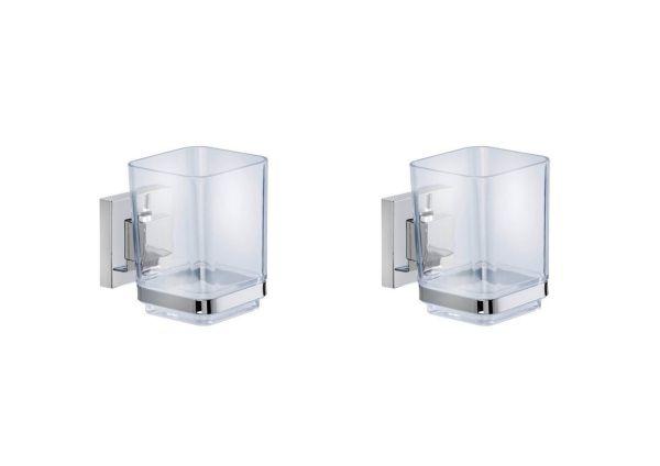 QUADRO Vacuum-Loc® Zahnputzbecher, 2er-Set