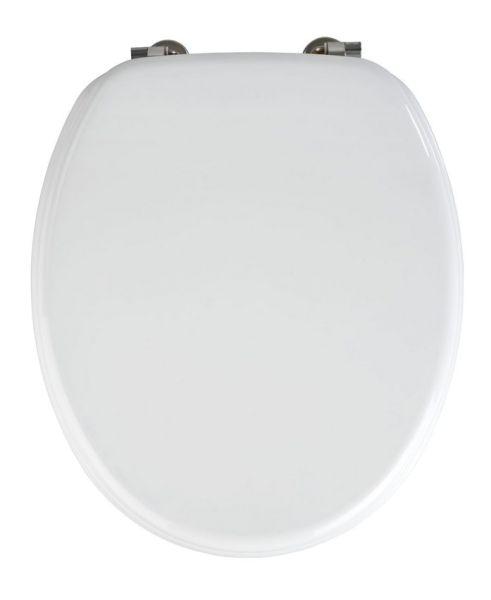 VALENCIA weiss WC-Sitz, Edelstahlscharniere