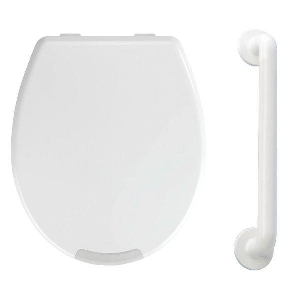 SECURA WC-Sitz mit Erhöhung & Haltegriff 43 cm