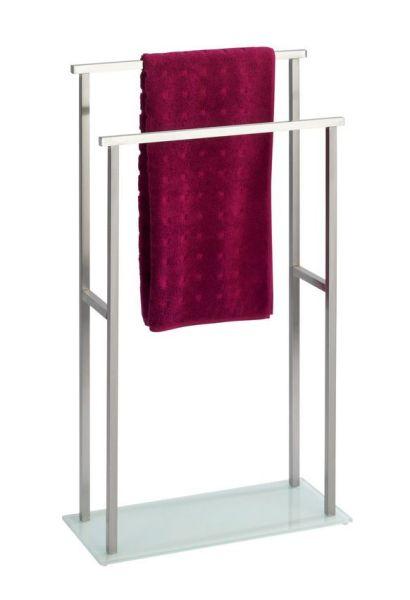 DEBAR Handtuchständer aus Edelstahl und Glas