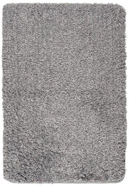 MELANGE Light Grey Badteppich, 60x90 cm, fusselfrei
