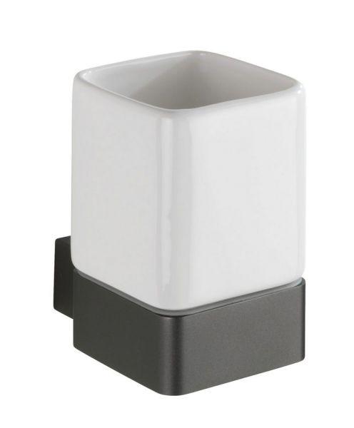MONTELLA Zahnputzbecher, Aluminium/Keramik