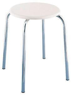EXCLUSIV Badhocker mit weißer MDF-Sitzfläche
