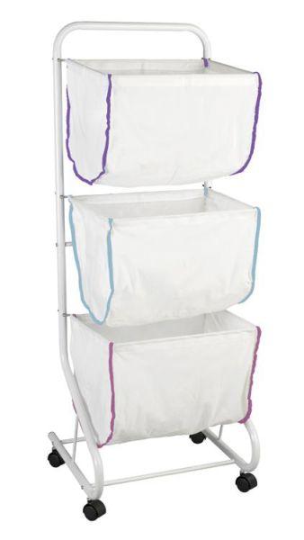 Wäschesammler Escala mit drei waschabren Textilkörben