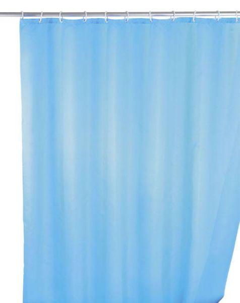 Klassischer Duschvorhang in hellblau mit antibakterieller Beschichtung