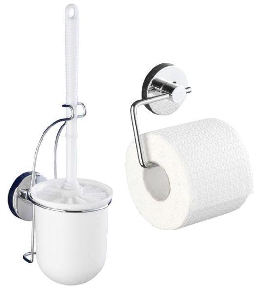 Zweiteiliges Set bestehend aus einem Papierhalter und einer WC-Garnitur