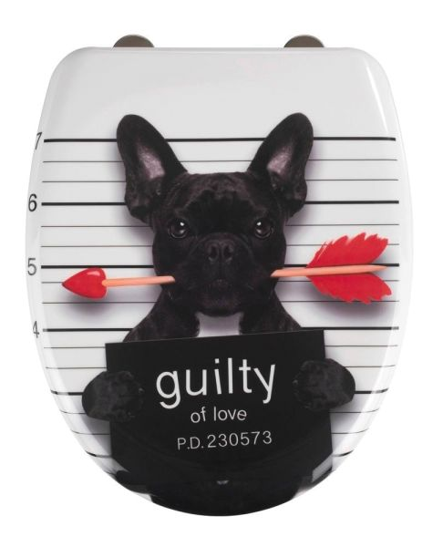 GUILTY DOG Premium WC-Sitz mit Absenkautomatik