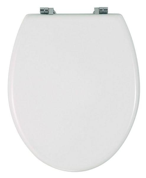 BALI weiss WC-Sitz mit Edelstahlscharnieren