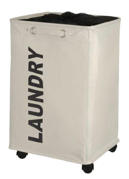 QUADRO beige Wäschesammler mit Rollen