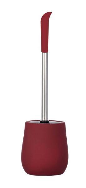 SYDNEY rot matt WC-Bürste, Bürstenkopf aus Silikon