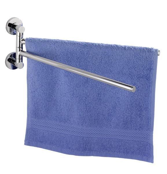 Hochwertiger Handtuchhalter mit zwei beweglichen übereinanderliegenden Armen