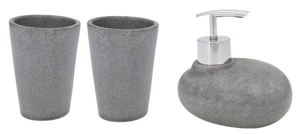 Badzubehör-Set Pebble Stone in täuschend echter Stein-Optik