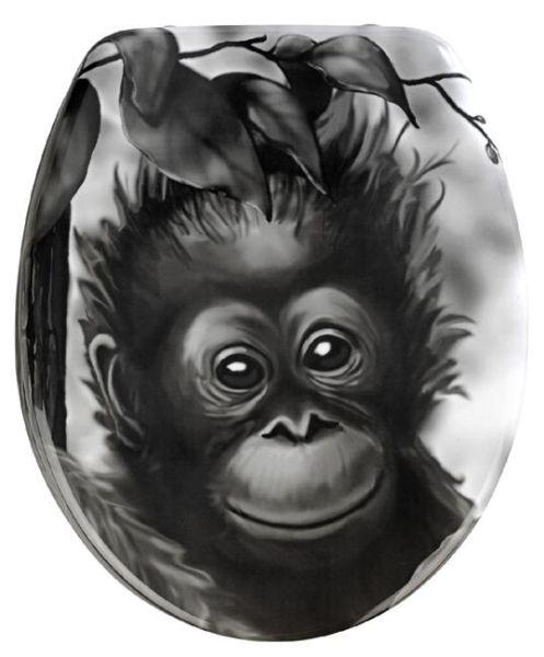 WC-Sitz Affe aus Duroplast von Wenko