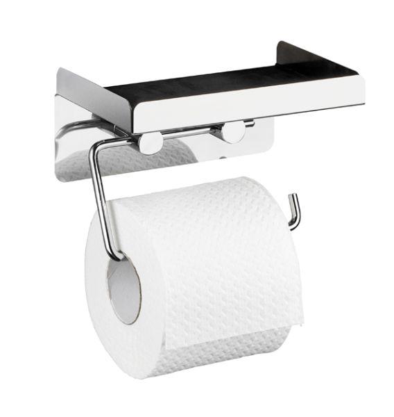 Offener Toilettenpapierhalter mit Ablage aus Edelstahl