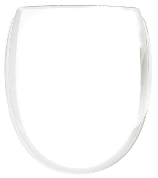 WC-Sitz KAN 3001 Classic in weiß mit Kunststoff-Scharnieren