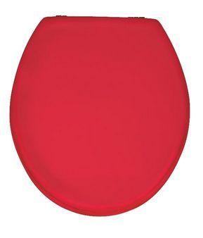 PRIMA Rot WC-Sitz mit Edelstahlscharnieren