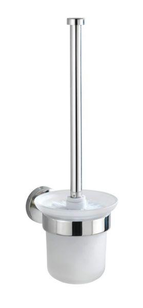 BOSIO Shine WC-Bürste aus Edelstahl und Glas