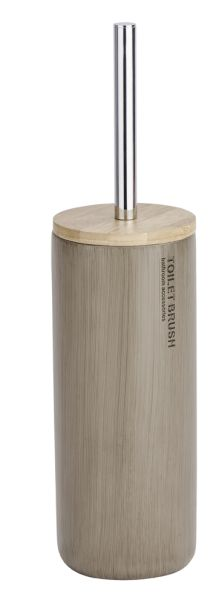WC-Garnitur Palo aus Polyresin kombiniert mit Bambus