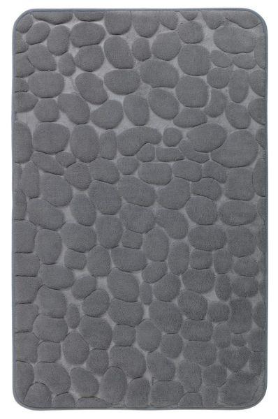PEBBLES Grau Badteppich, 50x80 cm, Memory-Schaum