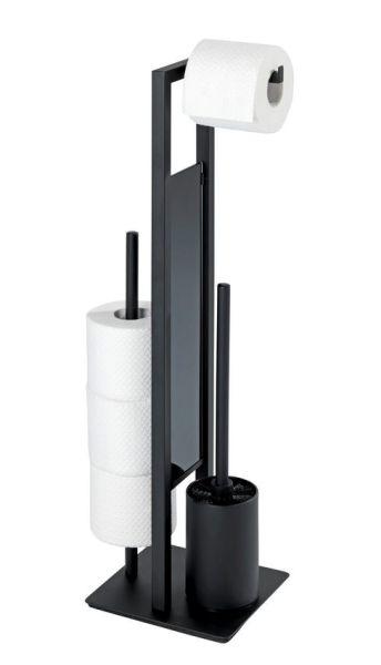 RIVALTA schwarz matt Bürstengarnitur aus Edelstahl