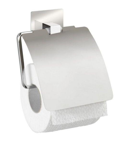 QUADRO Toilettenpapierhalter mit Deckel, Edelstahl