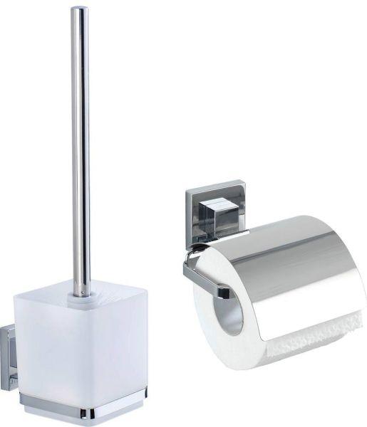 QUADRO VacuumLoc® WC-Set: WC-Garnitur & Papierhalter