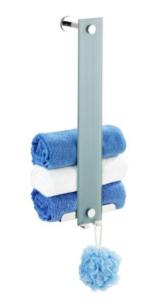 Moderner Handtuchhalter mit vielfältigen Befestigungsmöglichkeiten