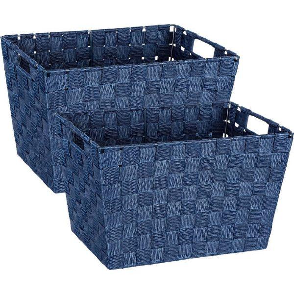 ADRIA blau, Größe M Aufbewahrungskorb, 2er Set