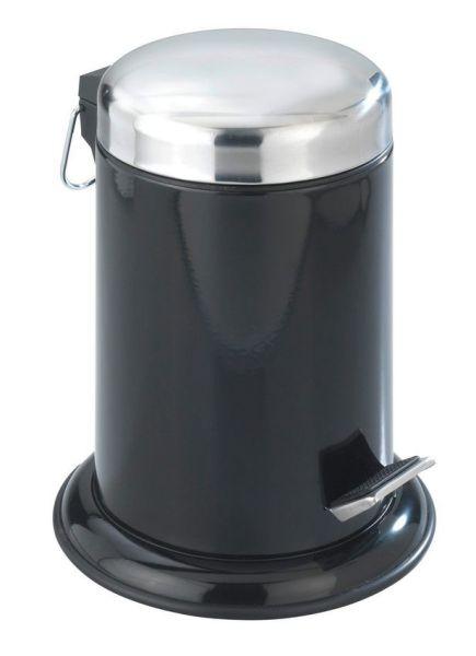 RETORO schwarz Treteimer aus Edelstahl, 3 Liter