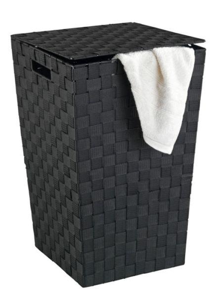 Pflegeleichter Wäschesammler Adria Square in schwarz von Wenko