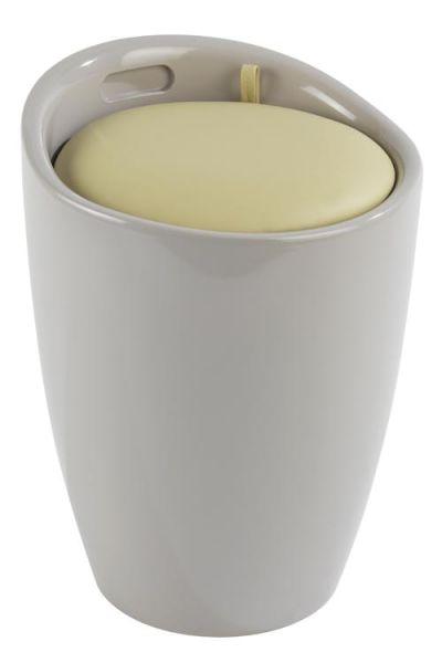 Trendiger Badhocker CANDY in grau und taupe