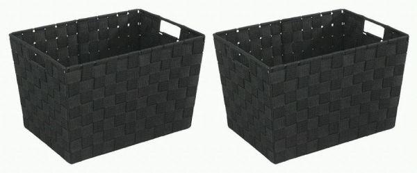 Vielseitiges Korb-Set ADRIA in schwarz