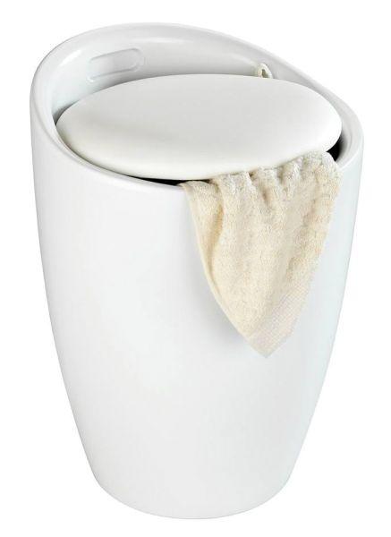 CANDY White matt Hocker & Wäschekorb, 20 l