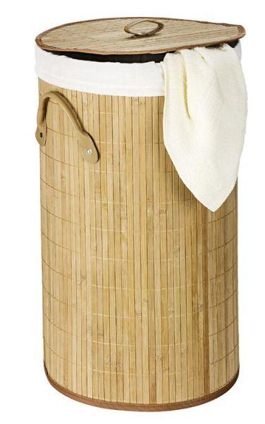 Wäschetruhe Bamboo aus naturfarbenen Bambus-Holz