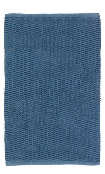 MONA graublau Badteppich, 50 x 80 cm, Baumwolle